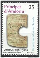 "Andorre Esp. YT 267 "" Archives Nationales "" 2000 Neuf** - Andorra Española"