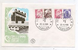 Italia - 1980 - Busta FDC - Serie Castelli D'Italia - 4 Valori BOBINA - (FDC5413) - Castles
