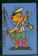 CARTOLINA IN VELLUTO-CARTE POSTALE VELOUR-VELVET POSTCARD-SAMTKARTE-LAZIALE-PESCATORE - Cartoline