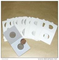 25 Cartons Pour Pièces De Monnaies Hartberger à Agrafer - 30 Mm - Matériel