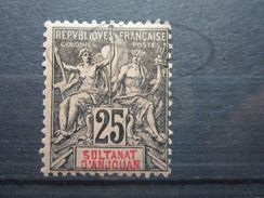 VEND BEAU TIMBRE D ' ANJOUAN N° 8 , X !!! - Unused Stamps
