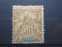 VEND BEAU TIMBRE D ' ANJOUAN N° 9 , X !!! - Unused Stamps
