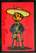 CARTOLINA IN VELLUTO-CARTE POSTALE VELOUR-VELVET POSTCARD-SAMTKARTE-MESSICANO - Cartoline