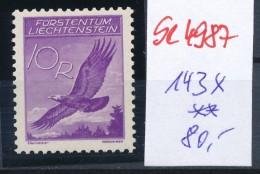 Liechtenstein  Nr.  143 X   **( Se4987   ) Siehe Bild ! - Abarten