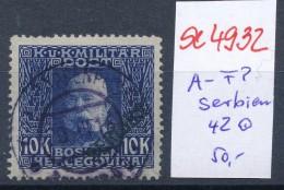 Österreich-Feldpost Serbien  42  O ( Se4932   ) Siehe Bild ! - Österreich