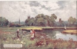 Somersetshire Tauton From The River - Unused TTB - England