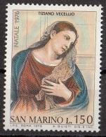 """981 San Marino 1976 """"Annunciazione Malchiostro"""" Quadro Dipinto Tiziano Vecellio Titian  Nuovo MNH Paintings - Quadri"""