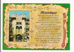 Manosque : Description De La Ville Et Vue De La Porte Saunerie - - Manosque