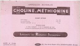 Buvard CHOLINE METHIONINE (LRT-AUBERVILLIERS) - Produits Pharmaceutiques
