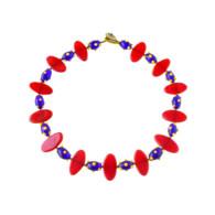 Collier D'Artisan Designer Perle De Verre 44cm Bijoux Vintage - Necklaces/Chains
