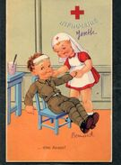 CPA - Illustration - Blessé Et Infirmière ... Dites Aaaaa! - Guerre 1914-18