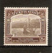 ST KITTS - NEVIS 1923 2½d SG 52 LIGHTLY MOUNTED MINT Cat £6 - St.Christopher-Nevis-Anguilla (...-1980)