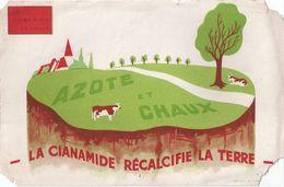 """Buvard """"la Cianamide De Chaux"""" -azote Et Chaux - Agriculture"""