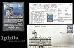 Godiji Temple Mumbai Indian FDC Folder  Jain Temple Architecture Jains Jainism - Religions