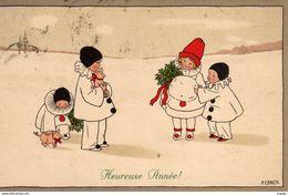 Illustrateur  P.EBNER    Heureuse Année!  Carte écrite En 1913    2 Scans  TBE - Ebner, Pauli