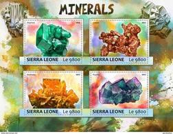 SIERRA LEONE 2017 SHEET MINERALS MINERAUX MINERALES MINERAIS MINERALIEN Srl17308a - Sierra Leone (1961-...)