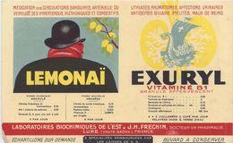 Buvard Lemonaï/EXURYL -LABORATOIRES BIOCHIMIQUES FRECHIN - Produits Pharmaceutiques
