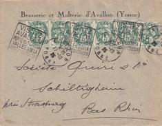 Env Affr Y&T 111 X 6 Obl Daguin AVALLON Du 17.10.25 VISITEZ / AVALLON / PORTE DU MORVAN / VALLEES DE LA / CURE ET DU - Marcophilie (Lettres)