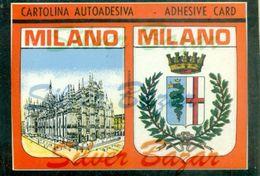 CARTOLINA AUTOADESIVA-AUTOADESIVE KARTE-AUTOADESIVE CARD-CARTE AUTOADESIVE-MILANO - Cartoline
