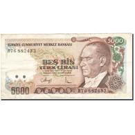 Turquie, 5000 Lira, 1984-1997, 1990, KM:198, TB - Turchia