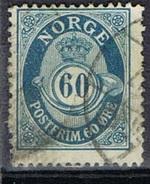 DO 5755  NOORWEGEN GESTEMPELD  YVERT NRS 31 ZIE SCAN - Norvège