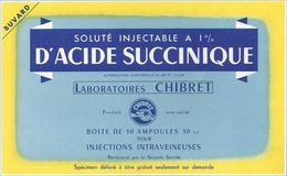 Buvard ACIDE SUCCINIQUE LABORATOIRES CHIBRET - Produits Pharmaceutiques