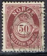 DO 5756  NOORWEGEN GESTEMPELD  YVERT NRS 30 ZIE SCAN - Norvège