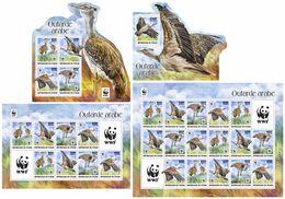 CHAD 2017 - WWF Arabian Bustard. Complete Perf. Set - Unused Stamps