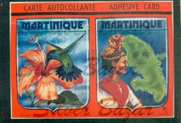 CARTOLINA AUTOADESIVA-AUTOADESIVE KARTE-AUTOADESIVE CARD-CARTE AUTOCOLLANTE-MARTINIQUE - Cartoline