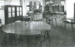 N°54667 -cpsm Caen -Lycée Féminin D'état- La Bibliothèque- - Caen