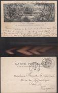 12737) INDOCINA CAMBOGIA SOUVENIR DES RUINES ANGKOR VIAGGIATA 1906 CAMBODGE - Cambogia