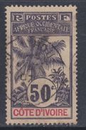 Cote D´Ivoire N° 31 O Type Palmiers : 50 C. Violet Oblitération Moyenne Sinon TB - Usados