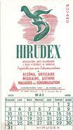 Buvard HIRUDEX -calendrier Mai 1953 - Produits Pharmaceutiques