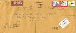 Sierra Leone 1995 Kenema Le150 Weaver (no Date) Le200 Sunbird (1994) Le500 Crocodile Bird (no Date) Express Registered - Sierra Leone (1961-...)
