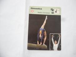 GINNASTICA SCHEDA TECNICA NADIA COMANECI EDIZIONE RIZZOLI 1977. - Sport