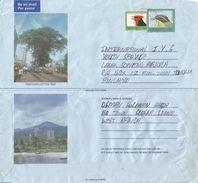 Sierra Leone 1997 Bo Le 100 Malimbe (1997) Le300 Bunting Aerogramme - Sierra Leone (1961-...)
