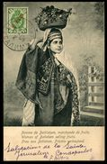 """LEVANT RUSSE - N°27 Obl Sur Carte Postale """"Femme De Bethlehem, Marchande De Fruit De Jérusalem Pour La France"""" 1904 - TB - Levant"""