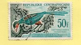 TIMBRE Centrafricaine (République) N° PA 7 De 1962 - Touraco Géant (50)- Oblitéré - Centrafricaine (République)