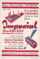 SELTENES Reklame- Blatt  IMPERIAL FEIGENKAFFEE - Karl Kuhlemann - Wien  1930 - Zonder Classificatie