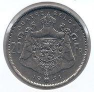 ALBERT I * 20 Frank / 4 Belga 1931 Frans  Pos.B * Nr 9679 - 1909-1934: Albert I