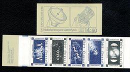 Svezia Sweden Schweden Suede 1987 Booklet Nobel Per Astrofisica  1x5v Complete Set Se Tenant ** MNH - Svezia