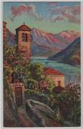 Lago Di Lugano - Gandria - Künstlerkarte - TI Tessin