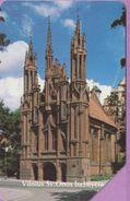 Télécarte Lituanie °° Urmet 6 - église Vilnius Sv-Onos-100 - Lituanie