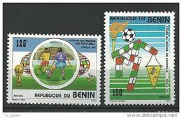 "Benin YT 685 Et 686 "" Italia 90: Football "" 1990 Neuf** - Bénin – Dahomey (1960-...)"