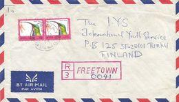 Sierra Leone 1994 Freetown 7 Le200 Sunbird Registered Cover - Sierra Leone (1961-...)