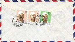 Sierra Leone 1979 Kalahun President Stevens 5c 15c Cover - Sierra Leone (1961-...)