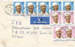 Sierra Leone 1979 Rotifunk President Stevens 2c 4c Cover - Sierra Leone (1961-...)