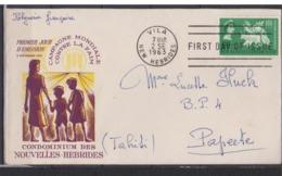 NOUVELLES  HEBRIDES    N° YVERT  :    198  Sur FDC     OBLITERE - FDC