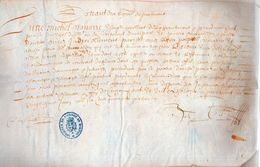 MICHEL NAVARRE.Procédure Faict Par Le Seneschal.parchemin :31 X 19 Cm.20 Juin 1644.cachet:Archives De L'ordre De Malte. - Documents Historiques