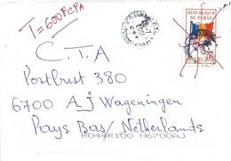 Tchad 2001 N'Djamena Flag 500f Unrecorded Michel Official Taxed Cover - Tsjaad (1960-...)